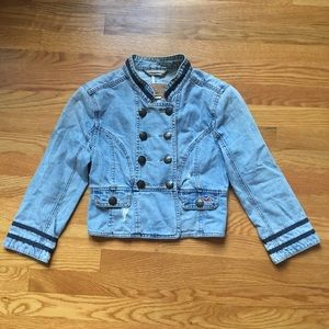 Hollister Military Inspired Distressed Jean Jacket